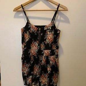 Urban Outfitters Lucca Couture Black Floral Romper